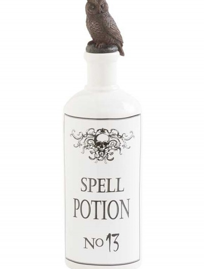 "10"" White Bottle with Owl Stopper buy now"