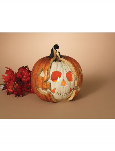 10.8 Inch Resin Halloween Double Pumpkin w/LED Candle buy now