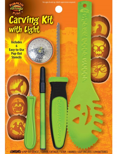 11 pc Green Colossal Carving Kit w/ Light buy now
