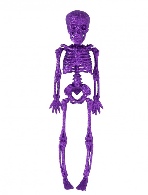 "11.5"" Purple Glitter Skeleton buy now"