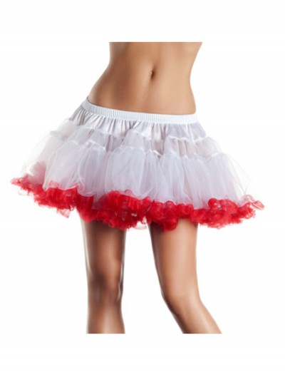 "12"" White and Red 2-Layer Petticoat buy now"