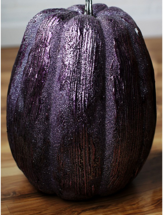 13 Inch Purple Glittered Pumpkin buy now