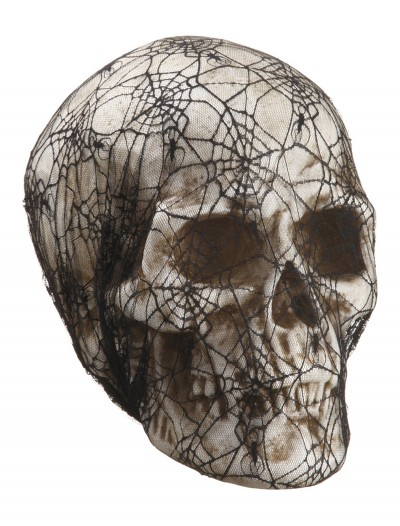 14 inch Laced Spider Web Skull buy now