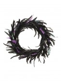 23 Inch Black and Purple Feather Wreath buy now