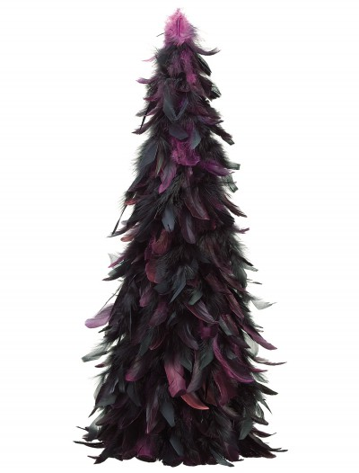 24 Inch Feather Cone Topiary Black and Purple buy now
