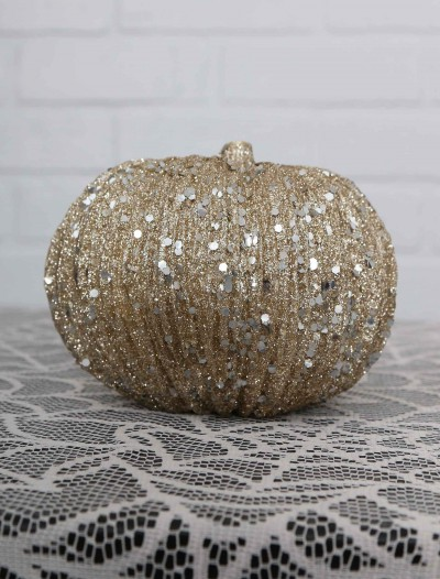 4.5 Inch Short Champagne Glitter Pumpkin buy now