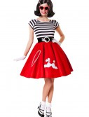 50s Ooh La La Red Poodle Skirt w/ Striped Top buy now