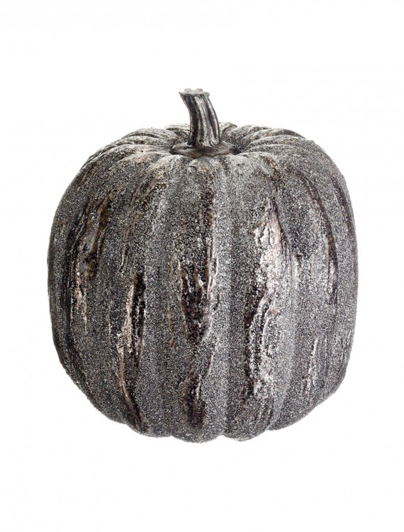 6 inch Silver Glittered Pumpkin buy now