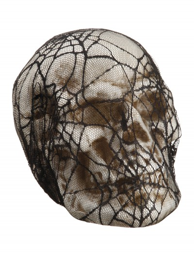 6 inch Spider Web Lace-covered Skull buy now