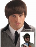 60s Mod Brown Mens Wig buy now