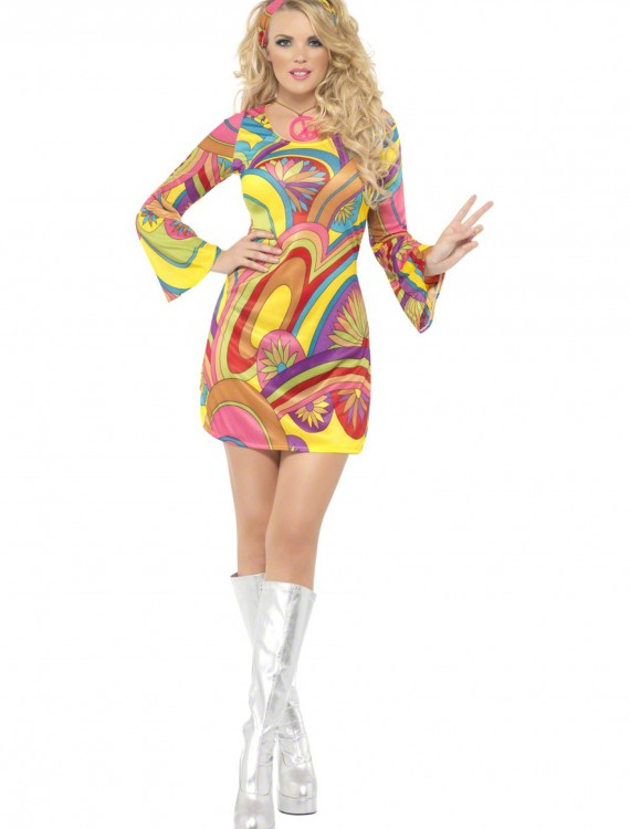 60s Sexy Flower Power Costume buy now