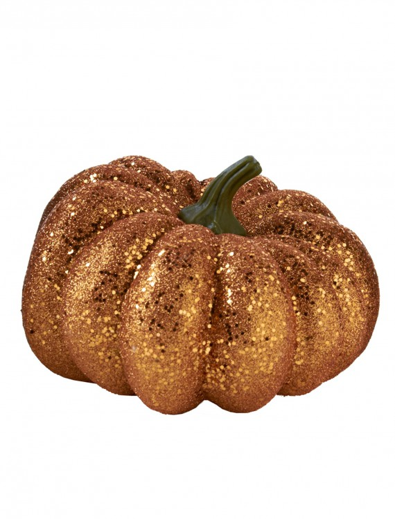"6.5"" Round Orange Glitter Pumpkin buy now"