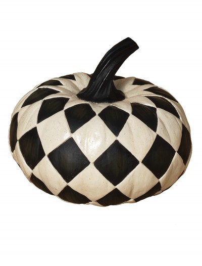 6.8 Inch Resin Black & White Diamond Pumpkin buy now