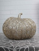 7 Inch Champagne Glitter Pumpkin buy now