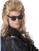 80s Blonde Rock Mullet Wig buy now