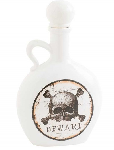 "8.5"" White and Brown Bottle with Skull & Crossbones buy now"