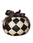9 Inch Resin Black & White Diamond Pumpkin buy now