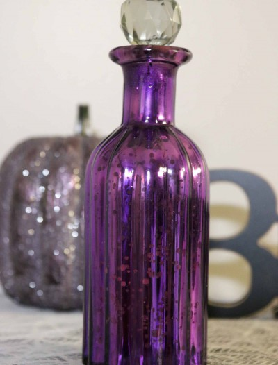 "9"" Purple Mercury Glass Perfume Bottle buy now"