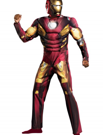 Adult Avengers Iron Man Muscle Costume buy now