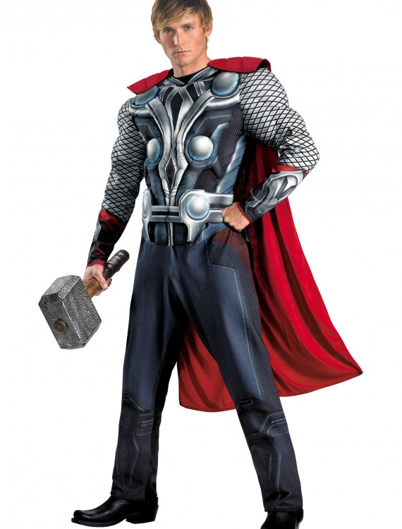 Adult Avengers Thor Muscle Costume buy now