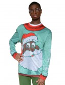 Adult Black Santa Christmas Sweater buy now