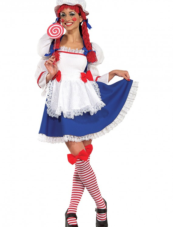 Adult Cheerful Rag Doll Costume buy now