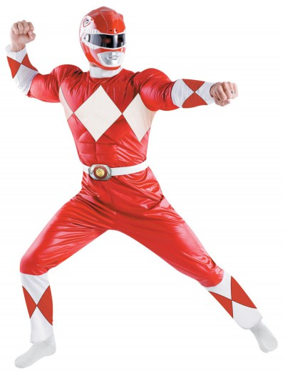 Adult Deluxe Red Power Ranger Costume buy now