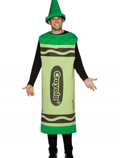 Adult Green Crayon Costume buy now