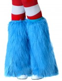 Adult Light Blue Furry Boot Covers buy now