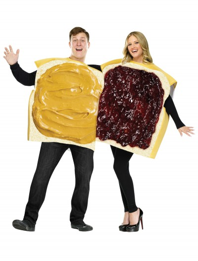 Adult Peanut Butter and Jelly Costume buy now