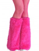 Adult Pink Furry Boot Covers buy now