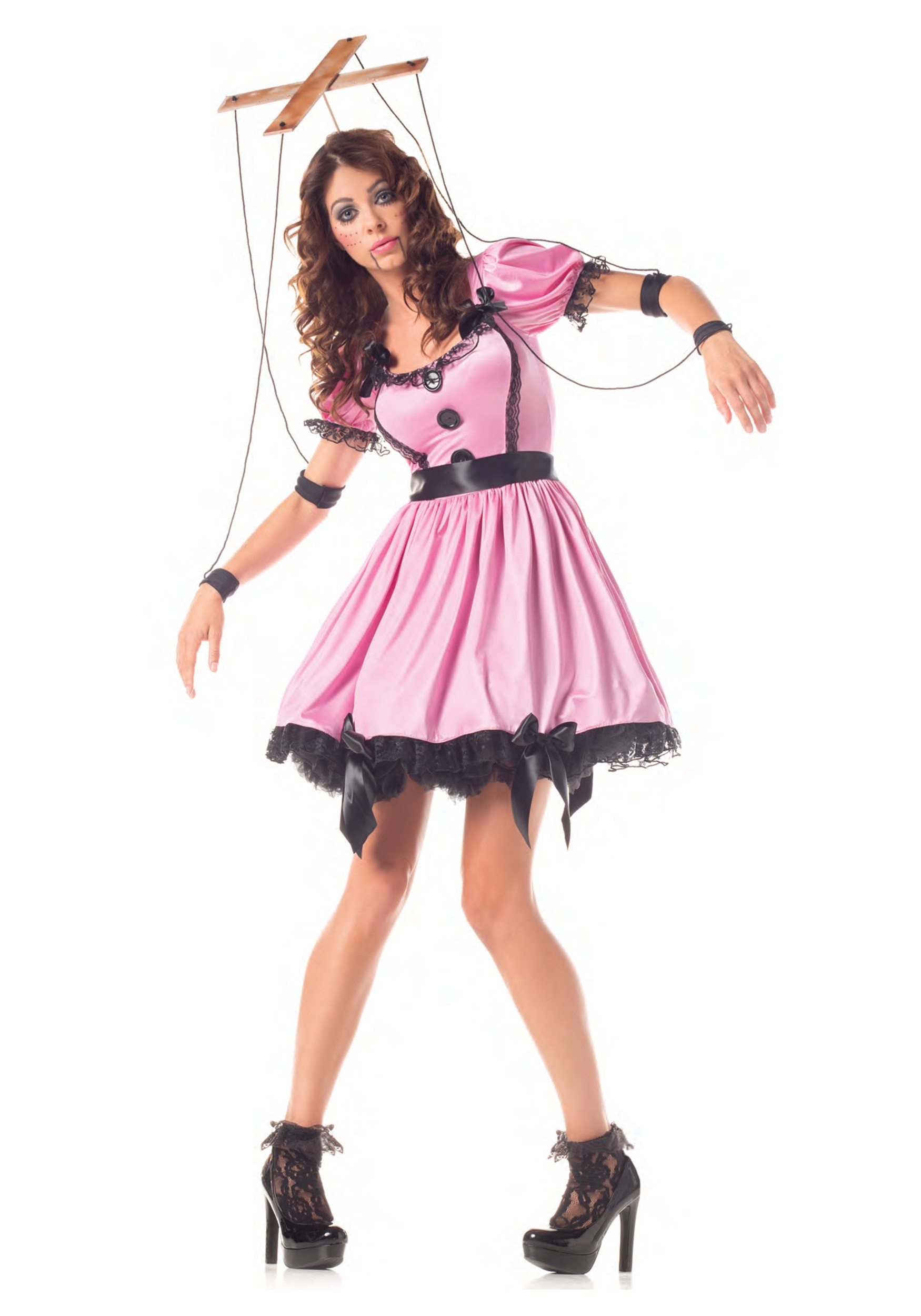 Adult Pink Marionette Costume  sc 1 st  Halloween Costumes : pink halloween costume  - Germanpascual.Com