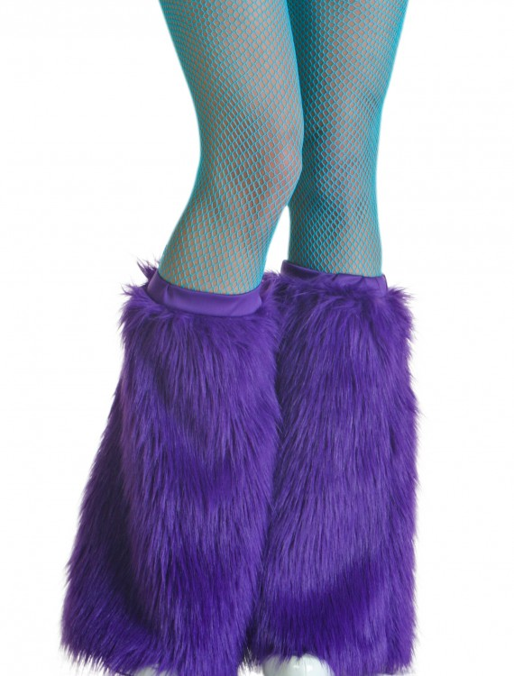 Adult Purple Furry Boot Covers buy now