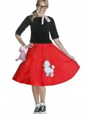 Adult Red 50s Poodle Skirt buy now