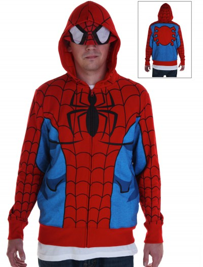 Adult Spiderman Costume Hoodie buy now