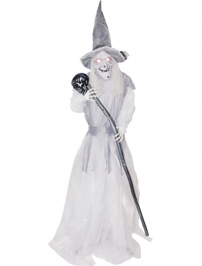 Animated Standing Ghostly Witch with Staff buy now