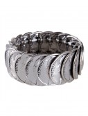 Antique Silver Stretch Coin Bracelet buy now