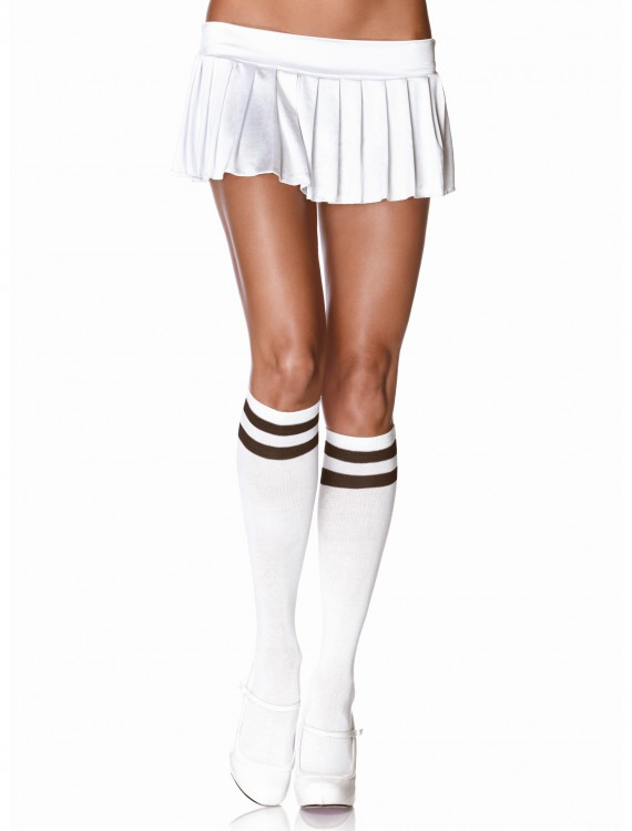 Athletic Knee High Stockings White/Black buy now