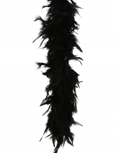 Black 80 Gram Feather Boa buy now