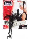 Black and Silver Beaded Flapper Headband buy now