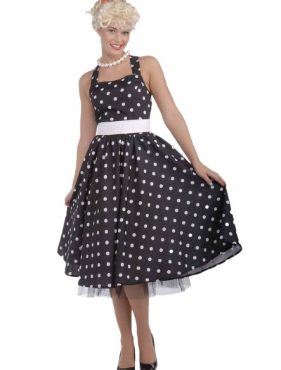Black and White 50's Polka Dot Dress buy now