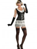 Black and White Sequin Flapper Costume buy now