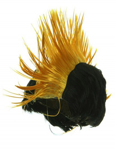 Black and Yellow Mohawk Wig buy now