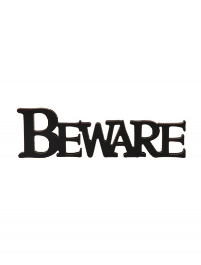 Black Beware Cutout Sign buy now