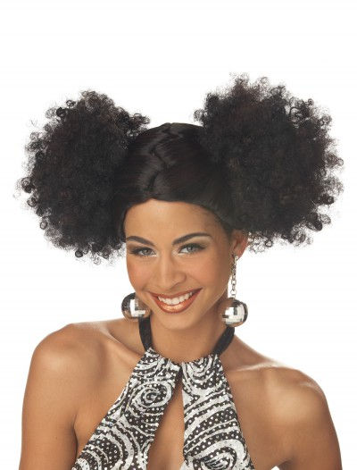 Black Disco Puffs Wig buy now