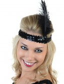 Black Flapper Headband buy now