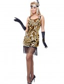 Black/Gold Sequin Flapper Costume buy now
