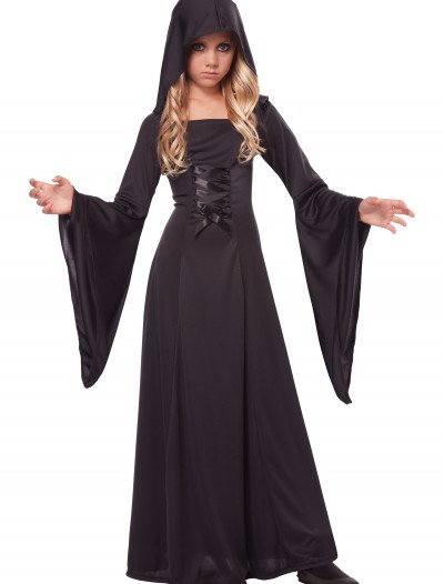 Girl's Deluxe Black Hooded Robe buy now