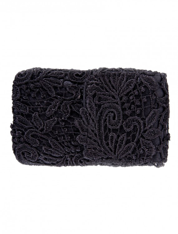 Black Lace Cell Phone Bag with Chain buy now