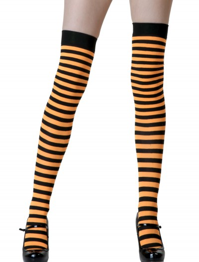 Black / Orange Striped Stockings buy now